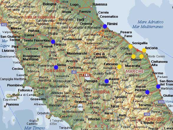 Cartina Italia Senigallia.Dove Dormire Odi Della Marca
